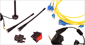 antennas, switches, sub assembly and fiber optics